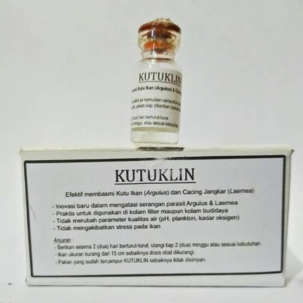 Kutuklin Obat Kutu Ikan Koi 1 Botol Isi 10gram Kode W2275 Shopee Indonesia