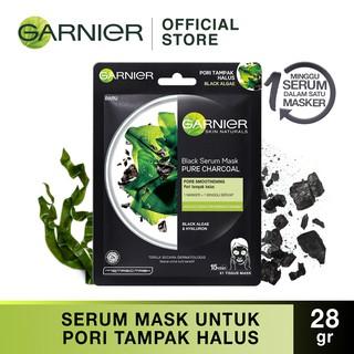 Garnier Serum Mask Pure Charcoal Black Algae Skin Care (Masker Wajah Untuk Kulit Pori Tersumbat) thumbnail