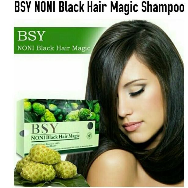 BSY NONI Shampoo Penghitam Rambut Alami / Black Hair Magic Asli-4