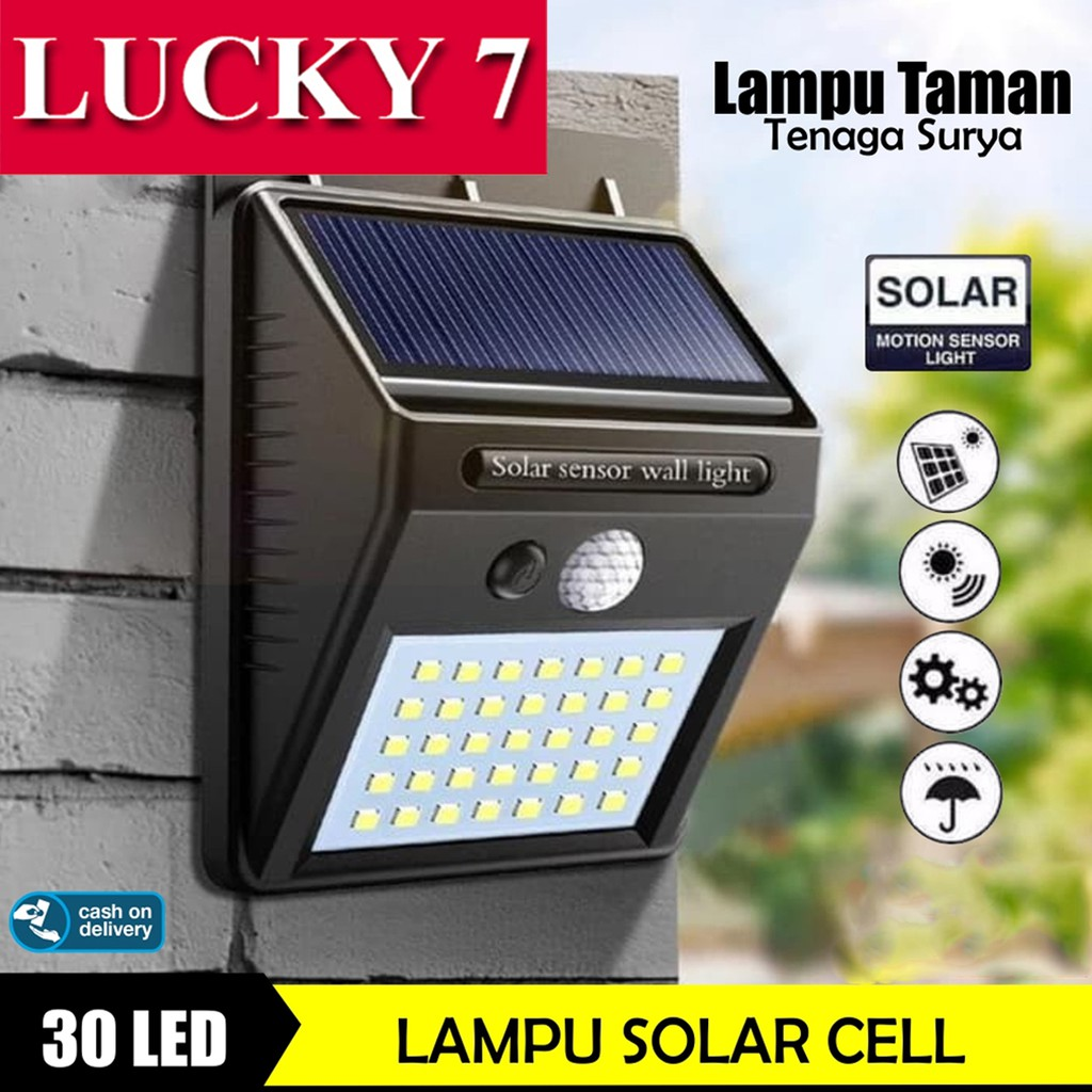 Cod Lampu Solar 30 Led Anti Air Lampu Taman Solar Tenaga Surya Lampu Dinding Emergency Terang Shopee Indonesia