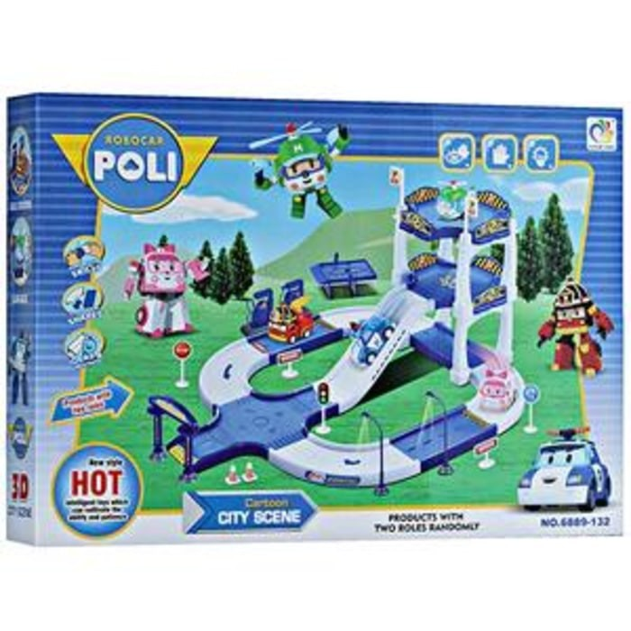 FIGURE ROBOCAR POLI ISI 4 PCS .
