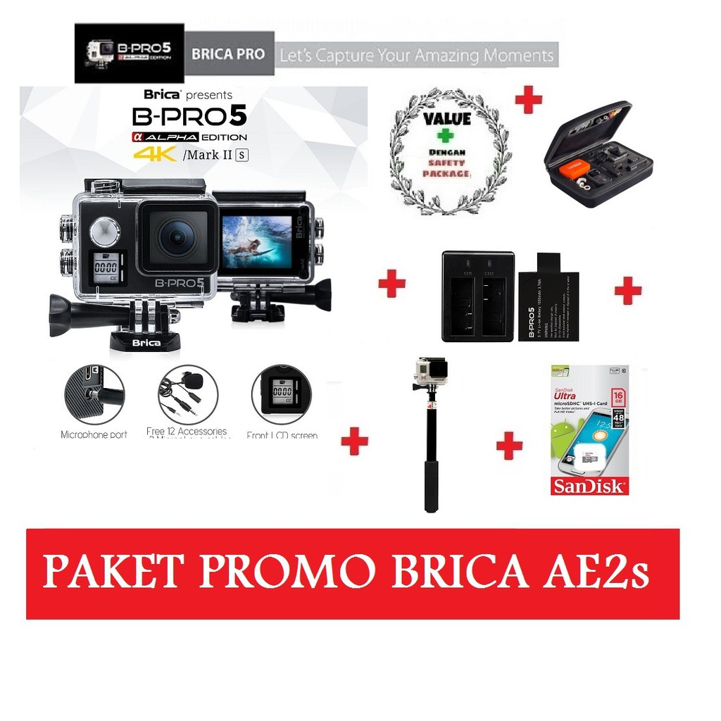 B Pro 5 Alpha Plus Gold Emas Bpro Action Camera Preloved Kamera Brica Edition Mark Ii Black Paket Combo Bekas Murah Shopee Indonesia
