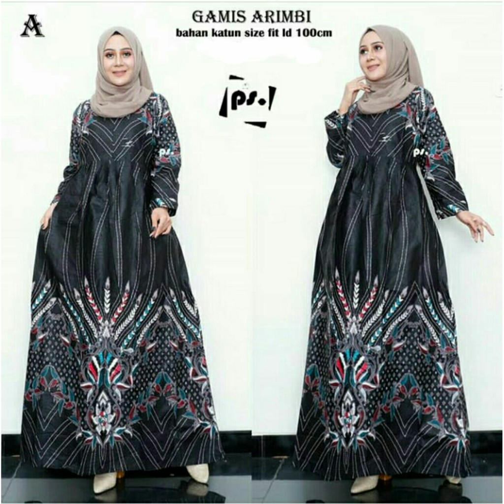 Gamis - Baju Gamis Batik Wanita Muslim Model Terbaru Zamzam Garansi  Termurah Di Shopee