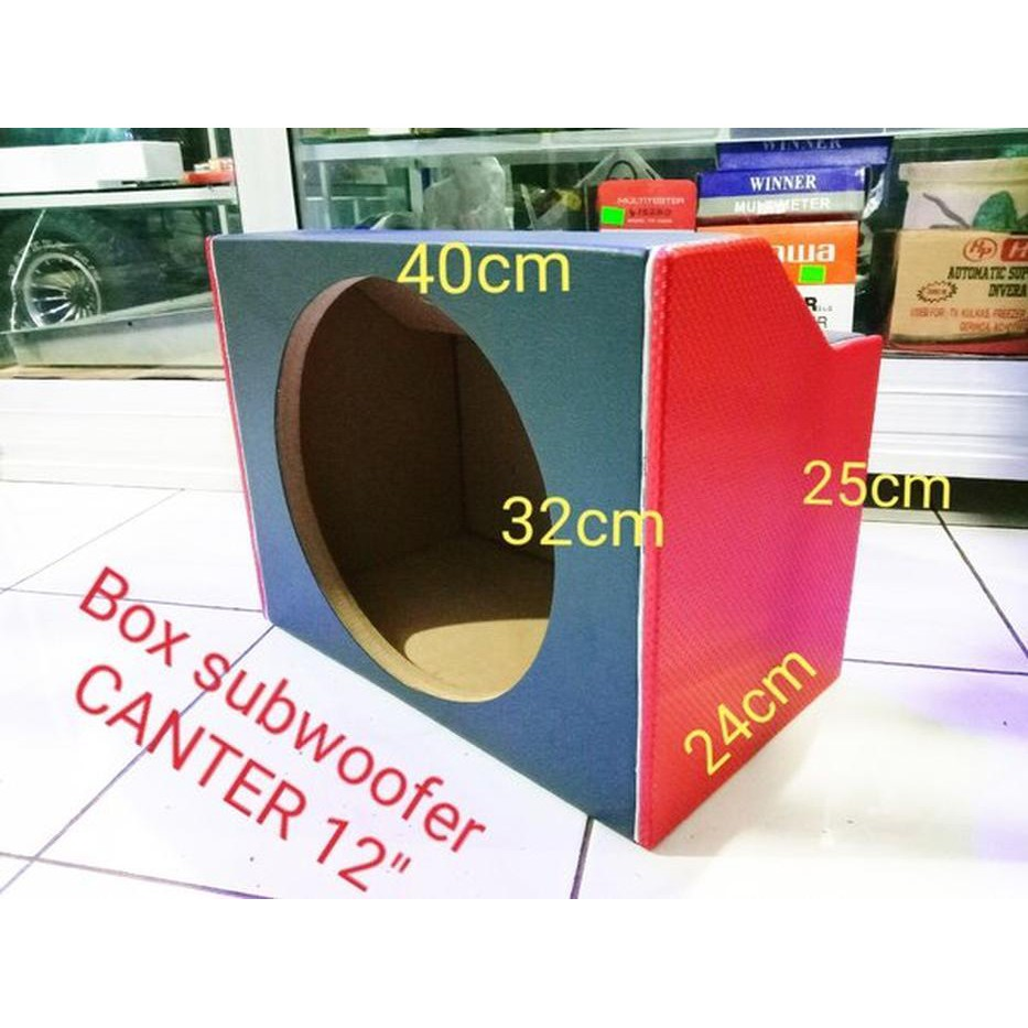 Box subwoofer mobil canter 12 inch
