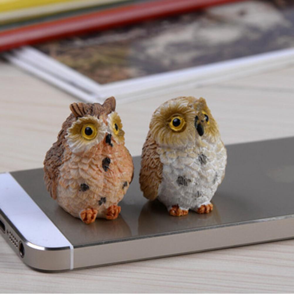 Miniatur Hewan Burung Hantu Kerajinan Bonsai Lumut Taman Terarium