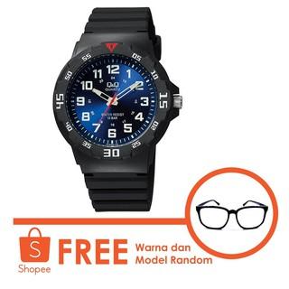 Q&Q Original Watch Jam Tangan Pria - Hitam - VR18J005Y free kacamata
