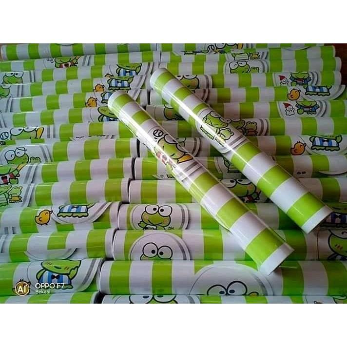 Cod Wallpaper Sticker Keroppi Line Stiker Dinding Kamar Tidur Ruangan Anak Walpaper Tembok Keropi Shopee Indonesia