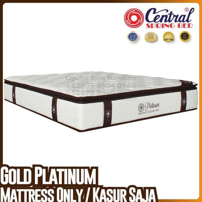 BISA COD Central New Gold Platinum - SpringBed - Ukuran 160 x 200 cm TERLENGKAP Kode 455