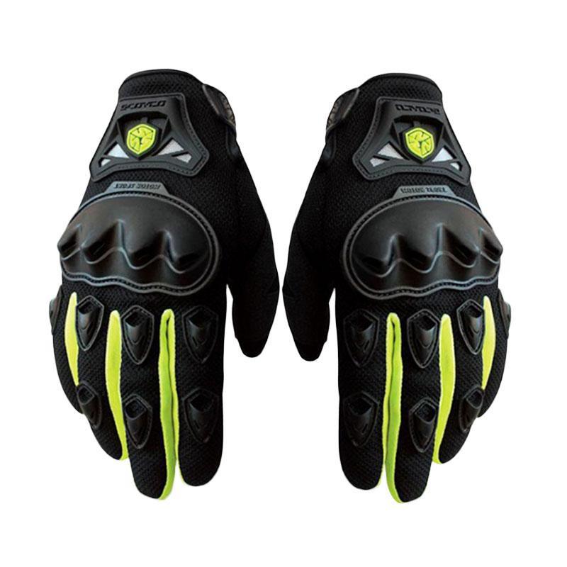 sarung tangan scoyco mc29d half hijau ORIGINAL - half finger - glove biker murah keren nyaman | Shopee Indonesia