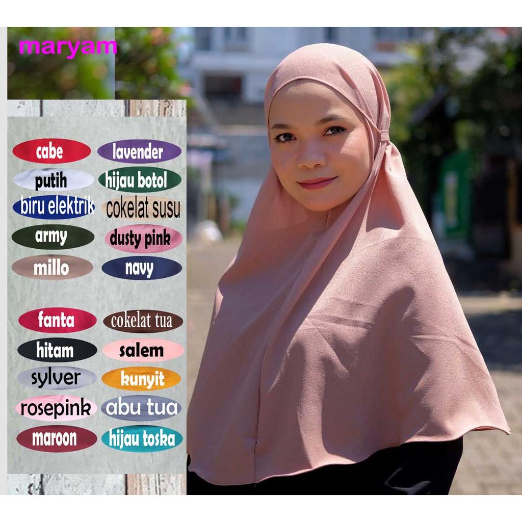 Hijab Bergo Maryam Warna Hijau Army Hijabfest