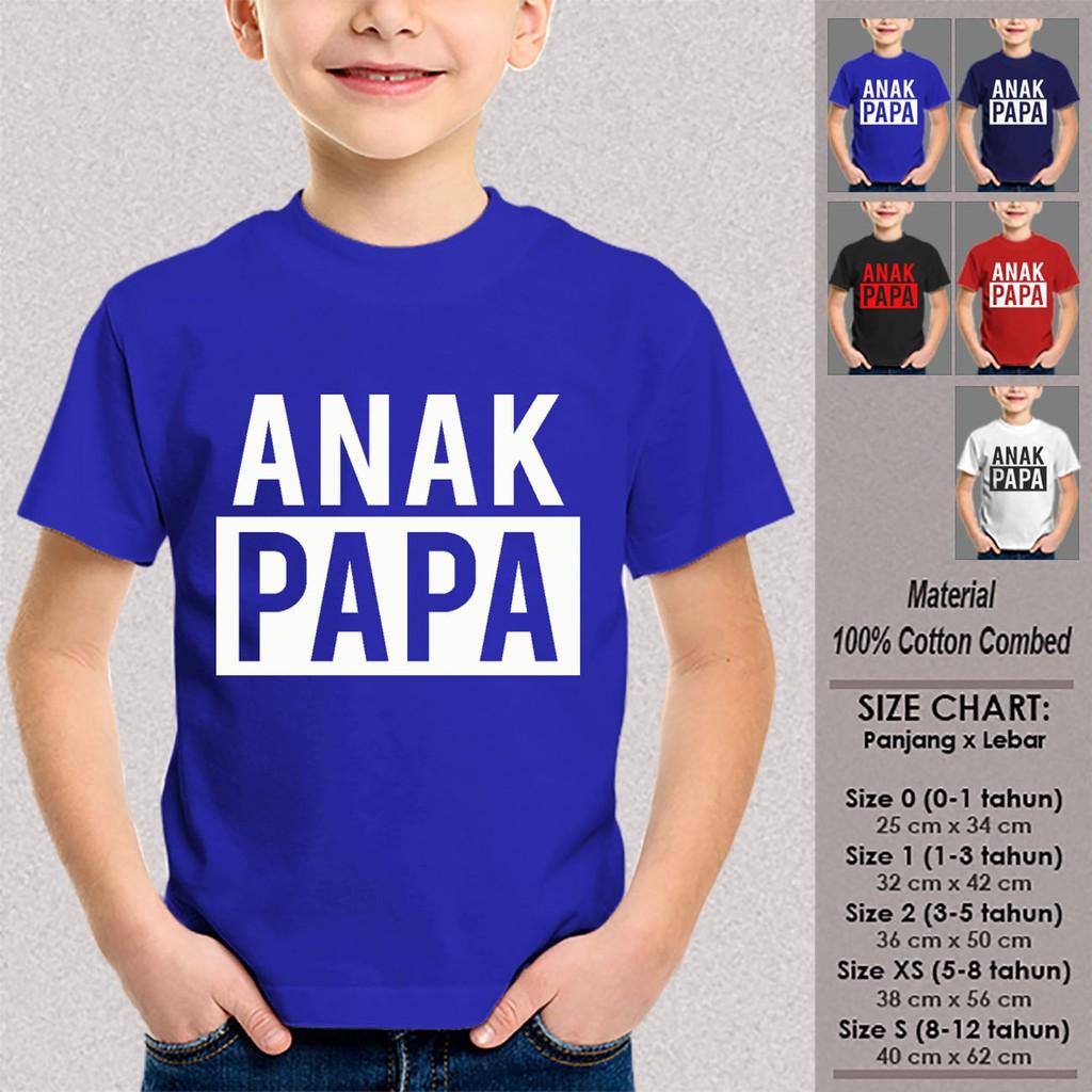 Jual Kaos Anak Tumblr SN-ASKTKT054 MAMA PAPA SAMA DENGAN AKU Baju Anak Size 1-12 Tahun | Shopee Indonesia