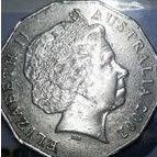 koin 50 cents Australia Elizabeth II 2002