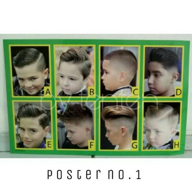 Paketan Poster Model Rambut Pria Terbaru Untuk Barbershop Shopee Indonesia