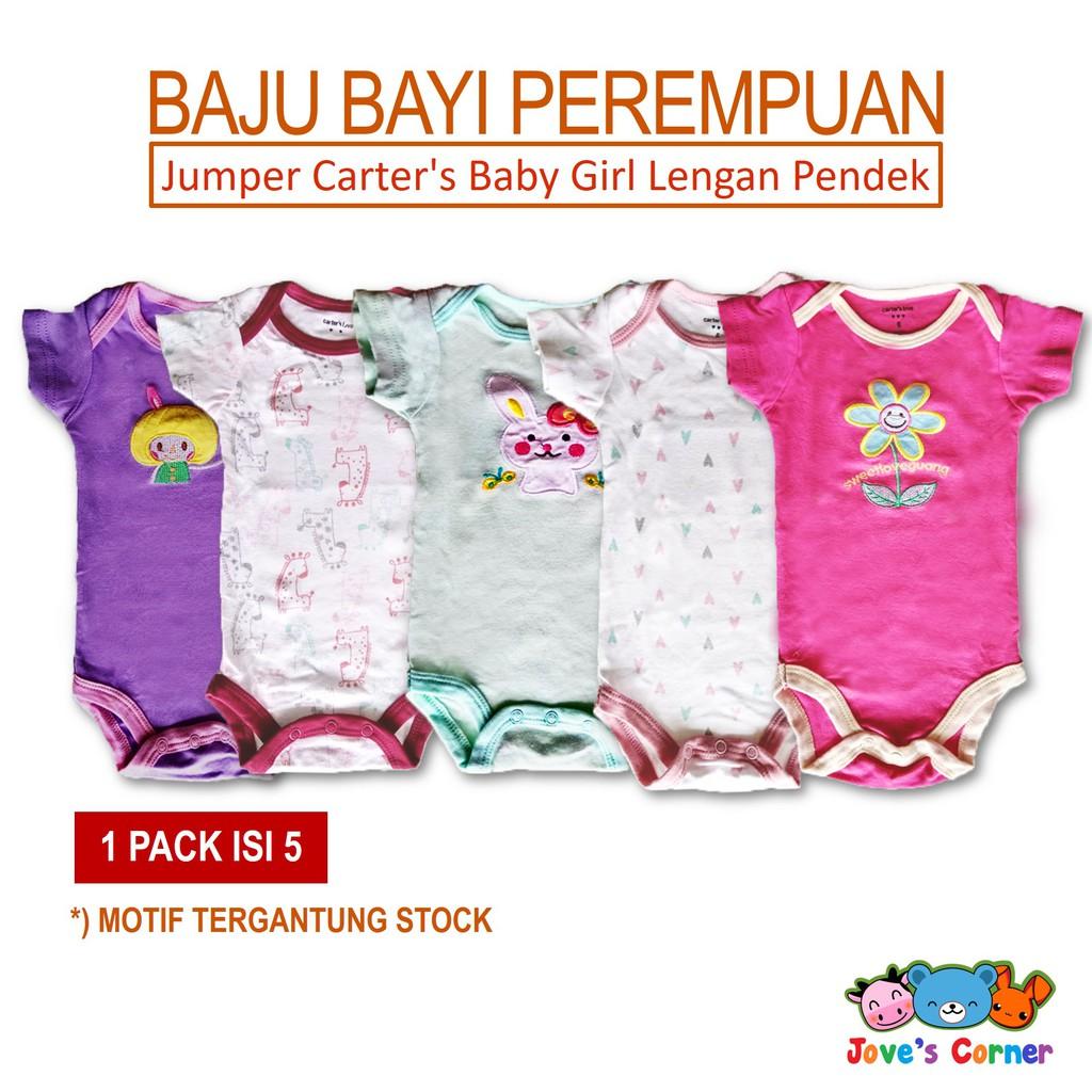 promo Jumper carters premium 5in1 baju bayi lucu cewek cowok laki perempuan carter love | Shopee Indonesia
