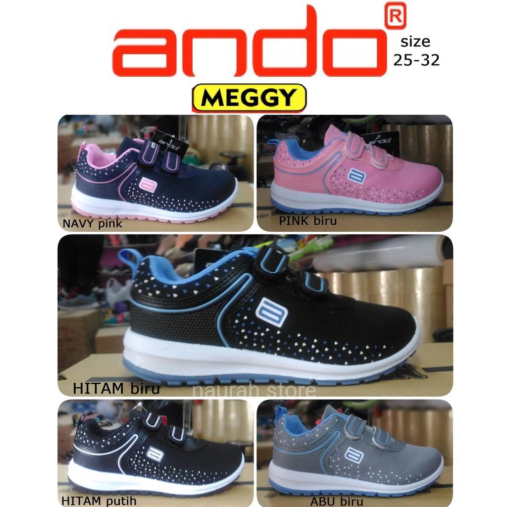 Sepatu Anak Ando Meggy Perekat Velcro Original Kualitas Import