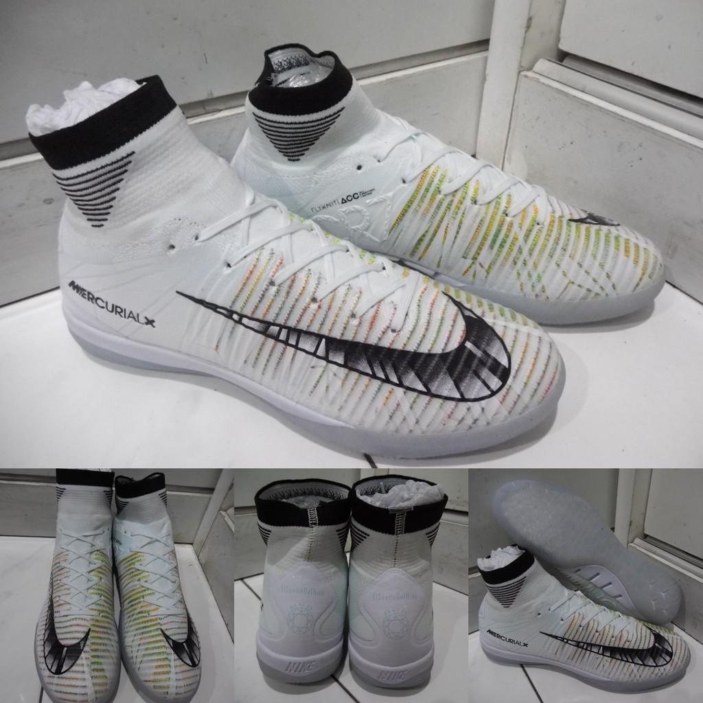 dfeeb2df889 Sepatu Futsal Nike Hypervenom X Proximo II DF Flyknit IC Blue White Biru  Putih