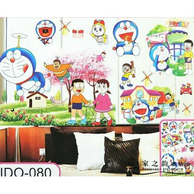 Wall Sticker Stiker Dinding Motif Doraemon 3d Shopee Indonesia