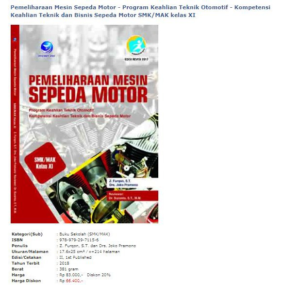 Pemeliharaan Mesin Sepeda Motor Program Keahlian Teknik Otomotif Kompetensi Keahlian Smk Xi Shopee Indonesia