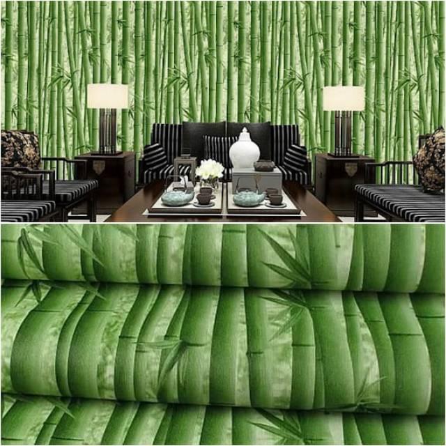Wallpaper Dinding Murah Ruang Tamu Kamar Tidur Bambu Terbagus Elegan Unik Menarik Shopee Indonesia