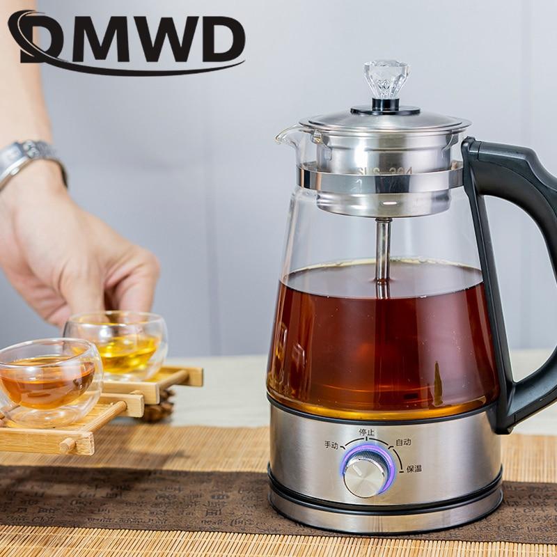 High Quality... DMWD 1L Electric Kettle Coffee Tea Maker Black Pu 'er Glass Tea Maker Automatic