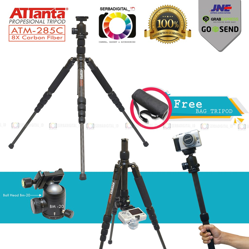 Takara Eco 196a Lightweight Tripod With Bagholder For Smartphone Cameravideo Shopee Indonesia