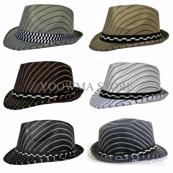 MURAH topi anak fedora hat strip  bf3d5e9398