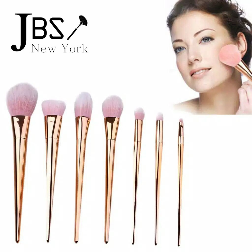 Jbs New York Kuas Makeup Brush 12 Set Make Up K025 K079 7 Isi Bulu Wool Pink K074 Shopee Indonesia