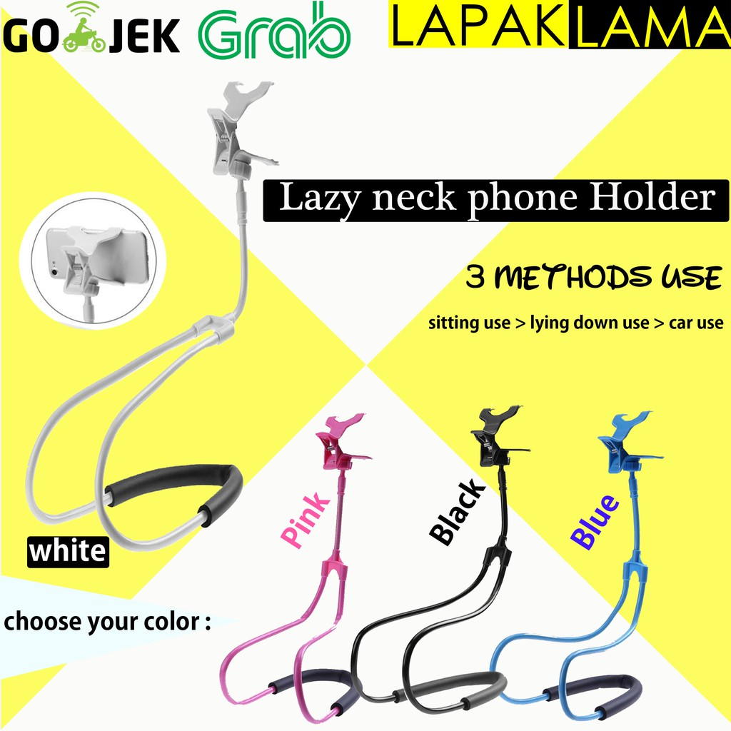 Lazy neck Lazyneck cell phone stand mount necklace / holder HP