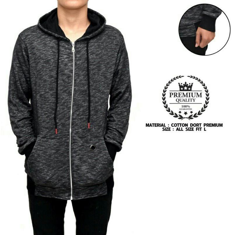DISTRO BANDUNG Jaket hoodie fila black premium  53564dd89f