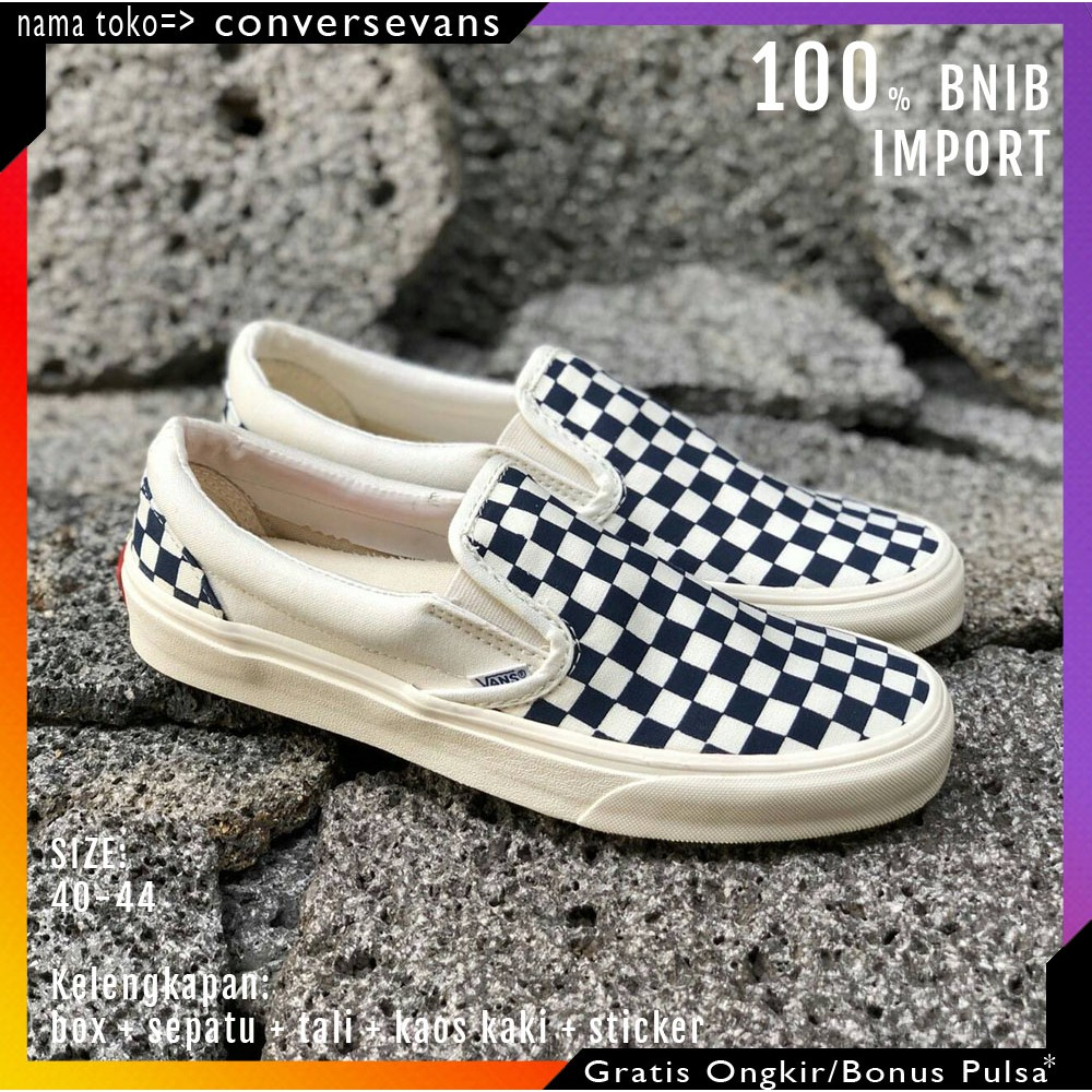 READY SEPATU VANS SLIP ON OG CHECKERBOARD OFF WHITE KODE WAFFLE EHC ... 524a31845c
