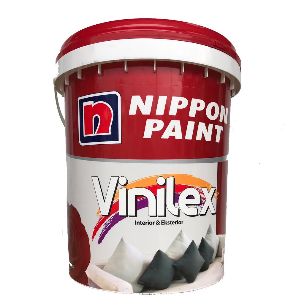 Cat Tembok Interior dan Eksterior Vinilex 5000 Nippon Paint 25kg Plus Paking Kayu