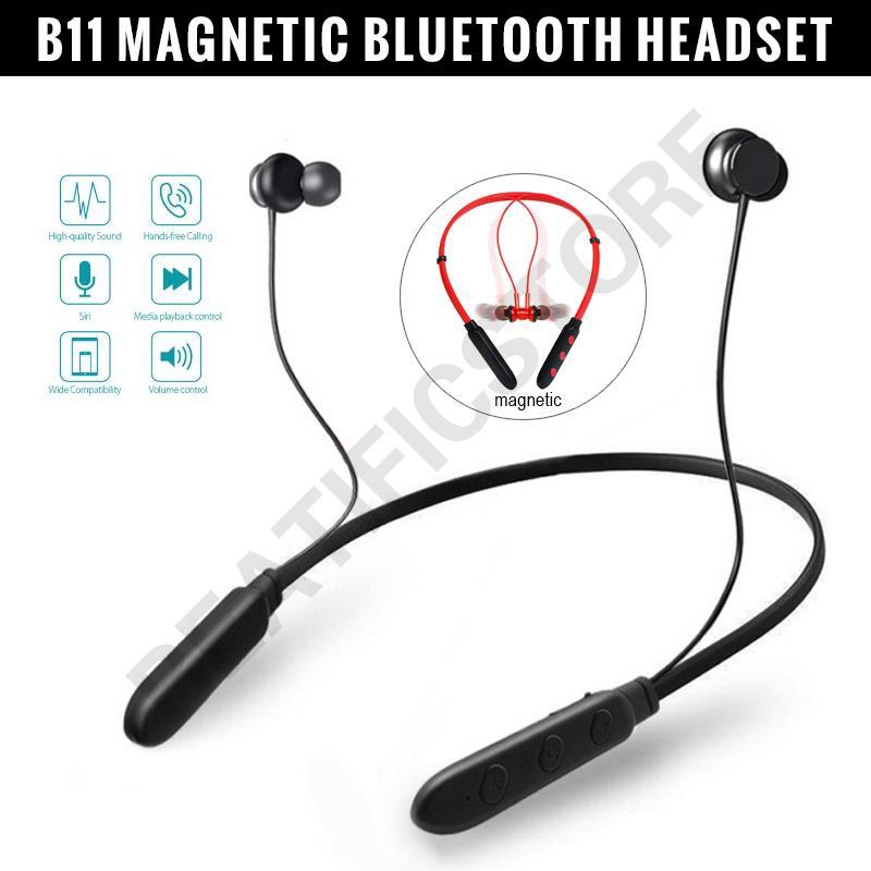Feika Headset Bluetooth B11 In Ear Magnetik Model Neckband Dengan Microphone Untuk Olahraga Shopee Indonesia