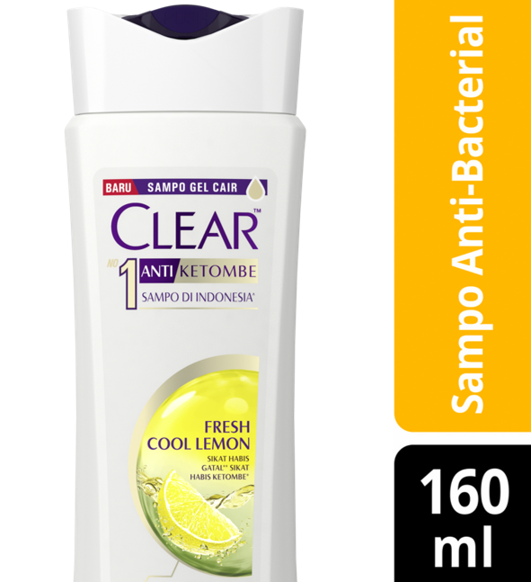 CLEAR Shampoo Anti Bacterial Fresh Cool Lemon 160 ml