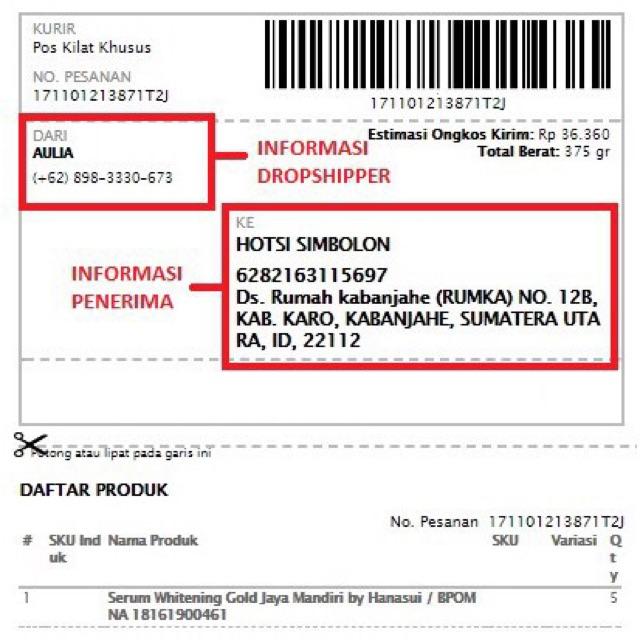 Dropship Reseller Ketentuan Dan Kolom Dropship Di Shopee Shopee Indonesia