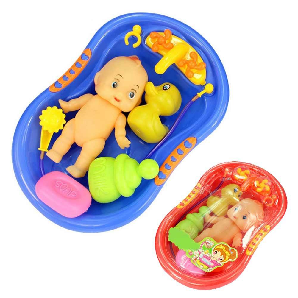 Mainan Anak Boneka Bayi Lucu Dalam Bak Mandi Dengan Shower Untuk Bermain Peran Shopee Indonesia