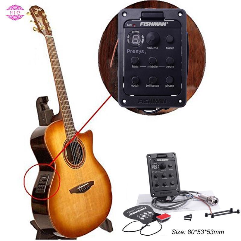 NIC FISHMAN PRESYS Pickup Board Gitar untuk Pengontrol/Penyelaras Musik  gitar akustik