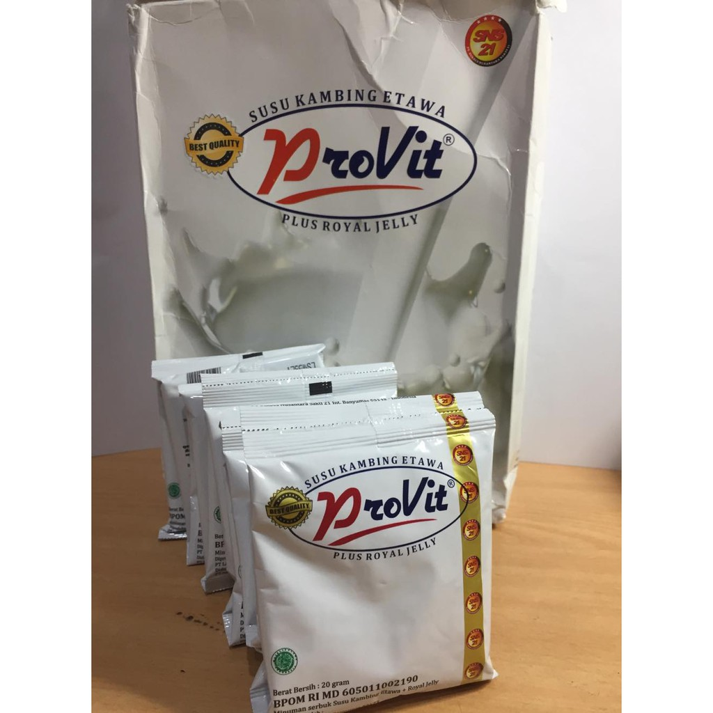 Susu Kambing Provit Plus Royal Jelly Shopee Indonesia Herbal Walatra Etaku Goat Milk Original Etawa Gomars Garansi Uang Kembali