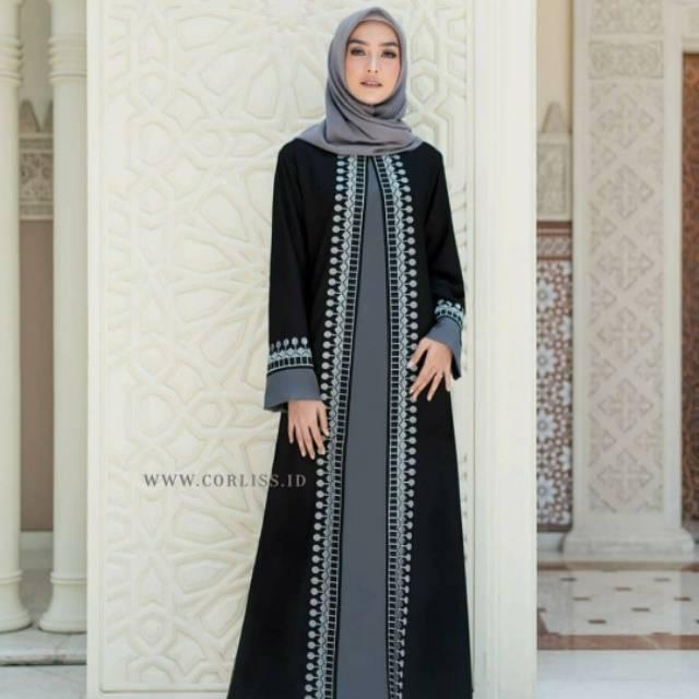 New Abaya Gamis Maxi Dress Arab Saudi Bordir Zephy Turki Umroh ...