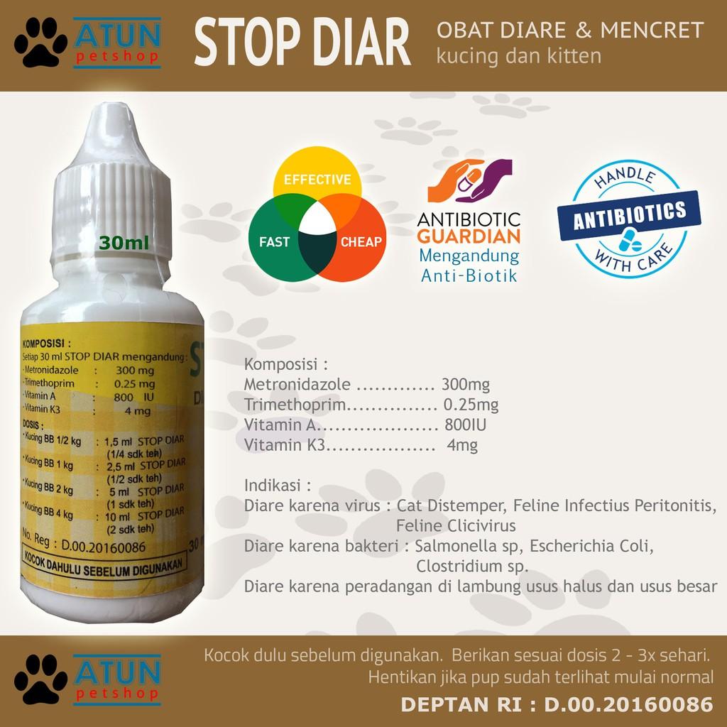 Obat Diare Untuk Kucing Bab M3ncret Aman Buat Kitten Stop Diar Shopee Indonesia