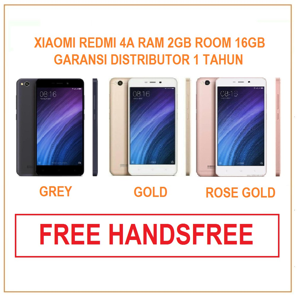 Xiaomi Redmi 4a Ram 2gb Internal 16gb Garansi Distributor 1 Tahun 5 Plus 3gb 32gb Blue Shopee Indonesia