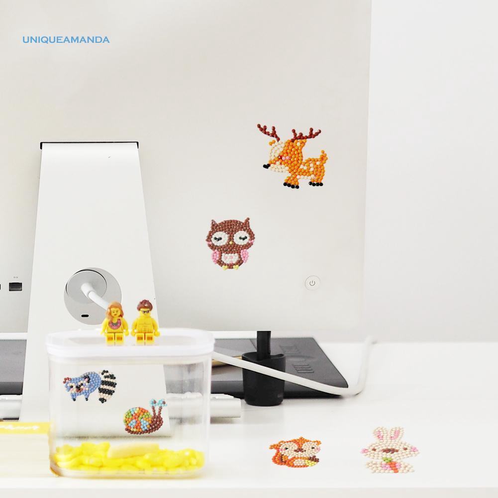 Uni Uni ✿ DIY Lukisan Diamond Gambar Kartun Hewan Lucu Untuk Hadiah Anak