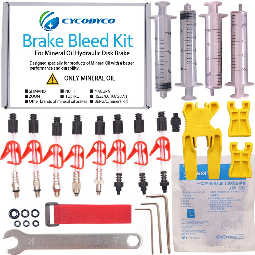 Mountain Bicycle Bike Hydraulic Disc Brake Bleed Kit Tool For Shimano Tektro