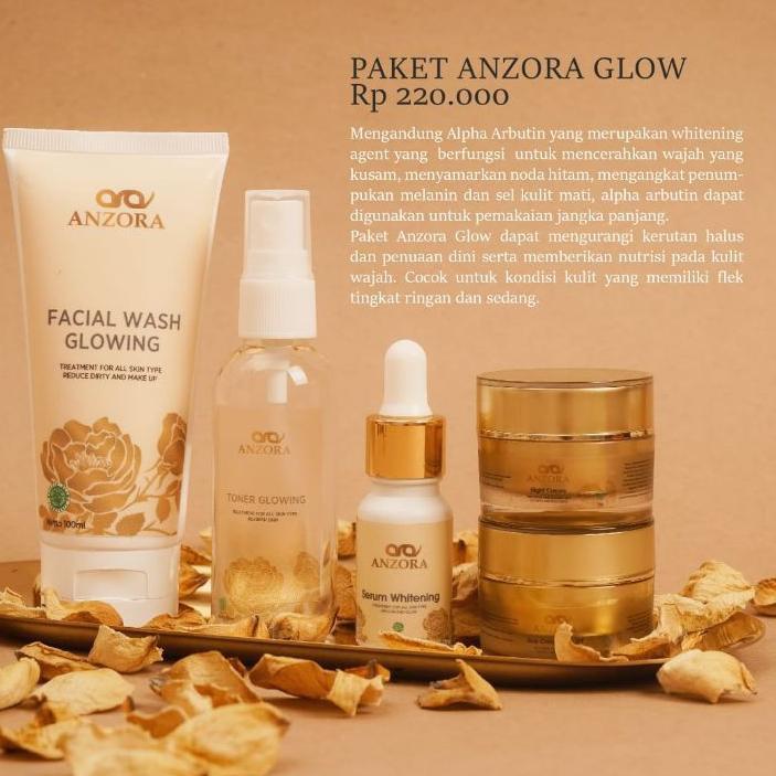 [>TERLARIS<] distributor resmi anzora skincare/anzora acne/anzora glow/jerawat/cream jerawat/paket .