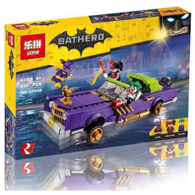 Lepin Bricks 07046 Bathero Batman Movie The Joker Notorious Lowrider | Shopee Indonesia