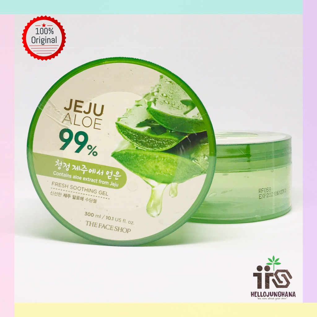 Full Jar Beauty K Jeju Fresh Aloe Soothing Gel Shopee Indonesia Korea Bpom Dan Original