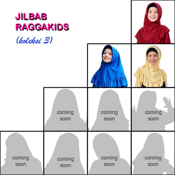 Jilbab Kaos Anak Raggakids (koleksi III)