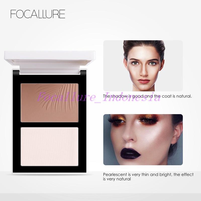 BPOM FOCALLURE Face Highlight & Contour Powder Palette - 2 Colors thumbnail