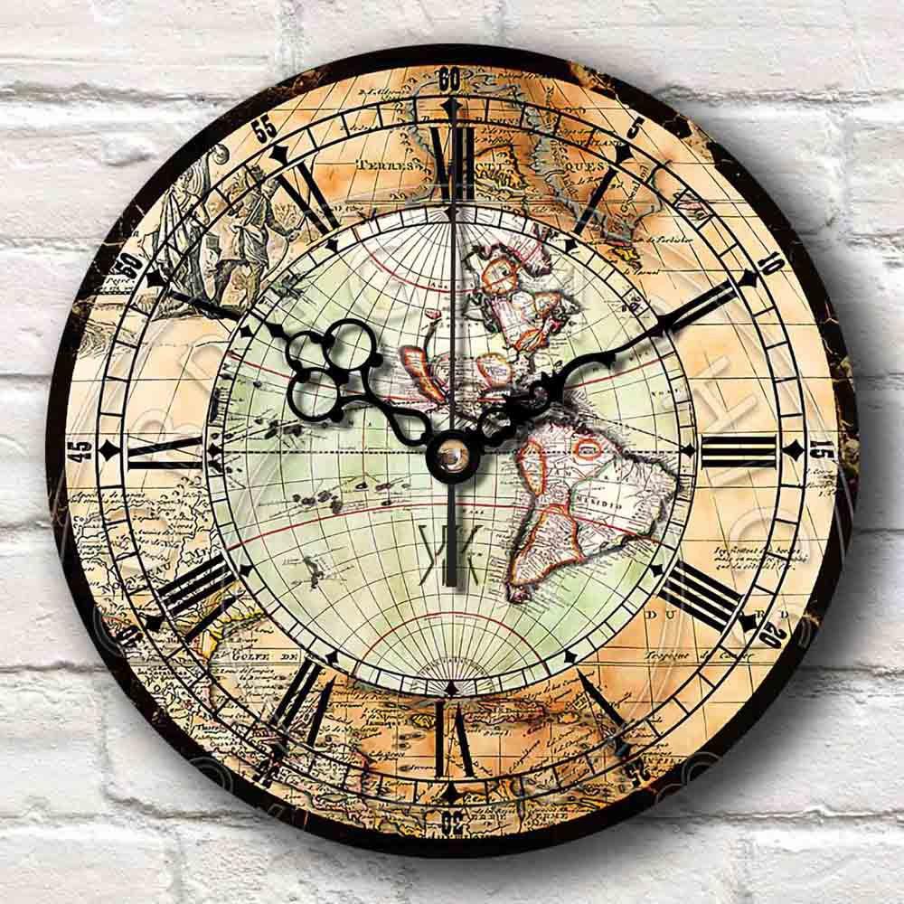 Jam Dinding Domino Motif Texture Kayu - Vintage Artistik Retro Clock ... a7533db383