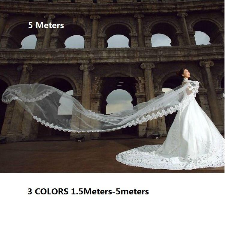 1x 2T White//Beige Wedding Bridal Elbow Satin Edge Veil With Comb Romantic Decor