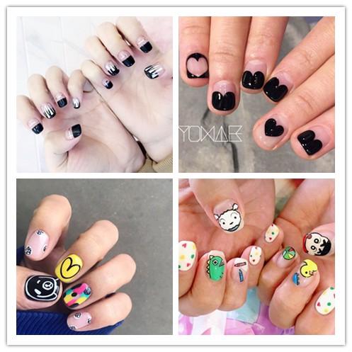 gambar stiker kartun lucu  yw257 260 stiker kuku motif kartun lucu anti air untuk nail art
